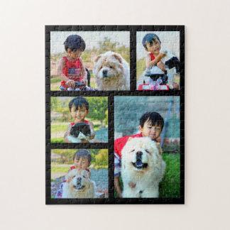 Customized Image Collage 5 Photo ジグソーパズル