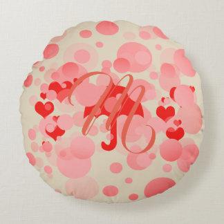 Cute Baby Shower New Baby Monogrammed Pillow ラウンドクッション