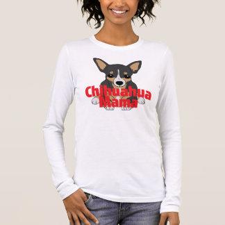 cute Blackタンチワワのママ 長袖Tシャツ