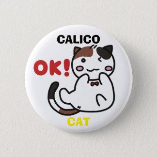 Cute Calico Cat Button 缶バッジ