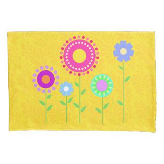 Cute colorful cartoon flower pillowcase cover 枕カバー