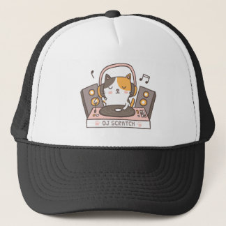 Cute DJ Scratch Cat Hat キャップ