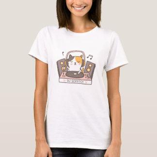 Cute DJ Scratch Kitty Cat Pun Humor Tee Tシャツ