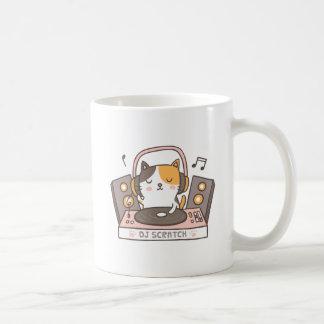 Cute DJ Scratch Kitty Cat Pun Mug コーヒーマグカップ