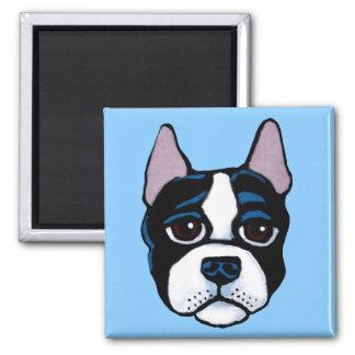 Cute dog, Boston Bull Terrier puppy マグネット