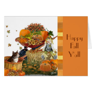 Cute Fall Harvest Note Card カード