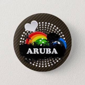 Cute Fruity Aruba 5.7cm 丸型バッジ