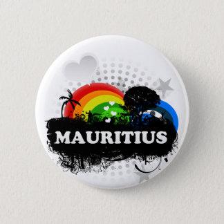 Cute Fruity Mauritius 5.7cm 丸型バッジ