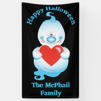 Cute Halloween Ghost Cartoon 横断幕