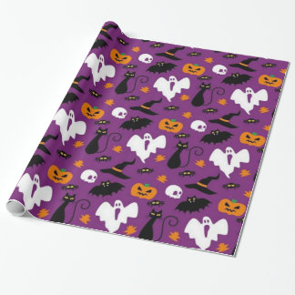 Cute Halloween Pattern ラッピングペーパー