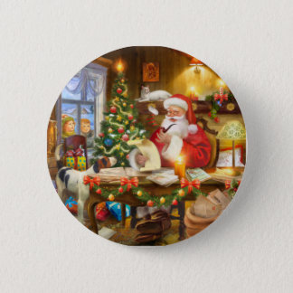 Cute holiday Christmas 5.7cm 丸型バッジ