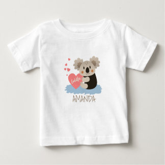 Cute Koala Cuddles ID386 ベビーTシャツ
