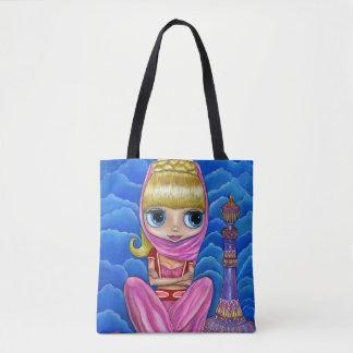 Cute Little Genie Girl & Magic Bottle トートバッグ