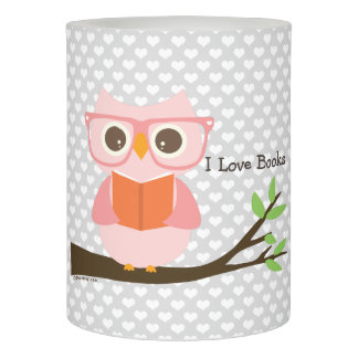 Cute Owl Reading LEDキャンドル