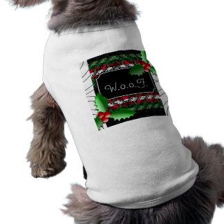Cute Personalized Ugly Sweater Dog Holiday  Shirt ペット服
