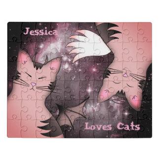 Cute pink cats ジグソーパズル