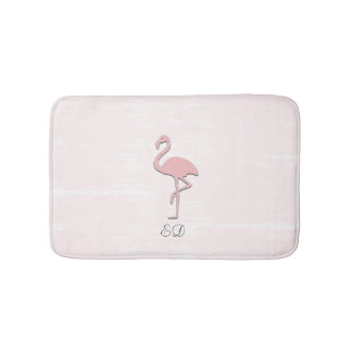 Cute Pink Flamingo Watercolor Look Bathmat バスマット
