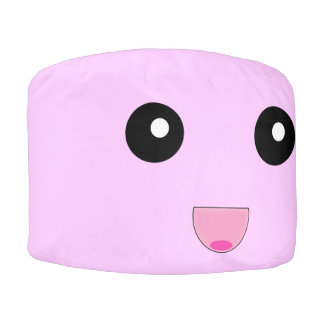 Cute Pink Kawaii Round Pouf Beanbag Chair プーフ