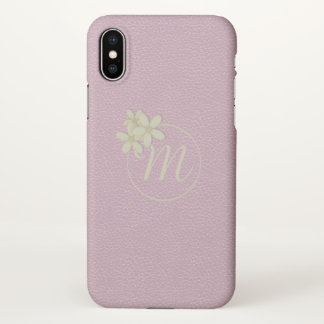 Cute Pink Leather Effect iPhone X ケース