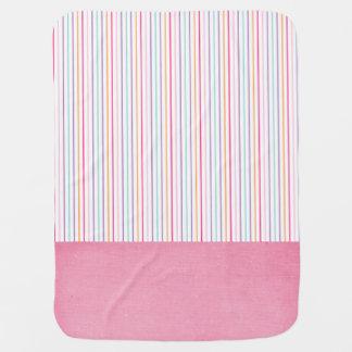 Cute Pink Stripe Baby Blanket ベビー ブランケット