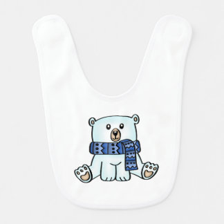 Cute Polar Bear Baby Bib ベビービブ