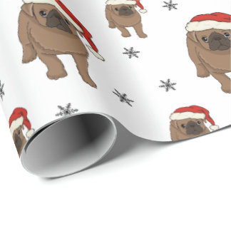 Cute Pug Christmas Wrapping Paper ラッピングペーパー