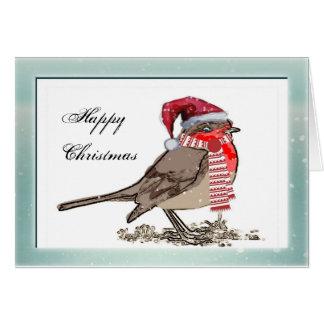 cute Robin Red Breast Companyクリスマスカード カード