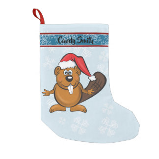 Cute santa beaver stocking スモールクリスマスストッキング