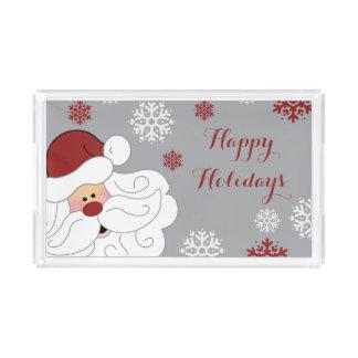 Cute Santa Claus Holiday Acrylic Serving Tray アクリルトレー
