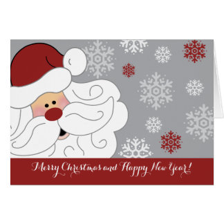 Cute Santa Claus Holiday Customized Folding Card カード