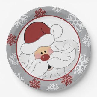 Cute Santa Claus Holiday Paper Plate ペーパープレート