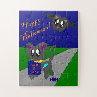 Cute Scruffy Animal Halloween Scene Kids Puzzle ジグソーパズル