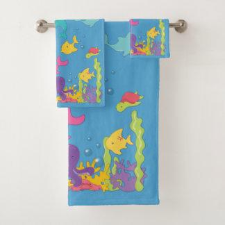 Cute Sea Animals バスタオルセット