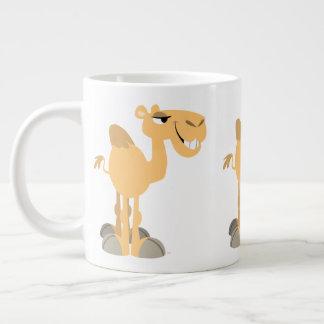Cute Smiling Cartoon Camel ジャンボコーヒーマグカップ