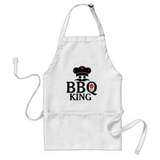 cute Text BBQ王及びシェフの帽子及びグリル スタンダードエプロン