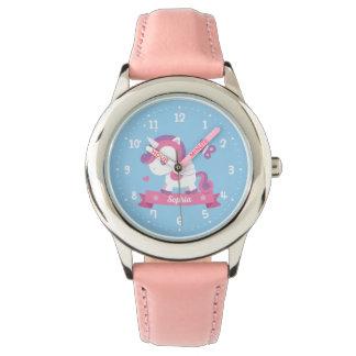 Cute Unicorn with Wings Girls Personalized Watch 腕時計
