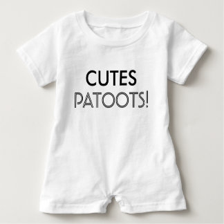 CutesのPatootsのベビーの幼児の子供のワイシャツの眠る人 ベビーロンパース