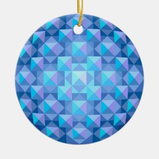 Cutglass青いオーナメント セラミックオーナメント