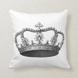 Cutomizableのヴィンテージの王冠の枕 クッション
