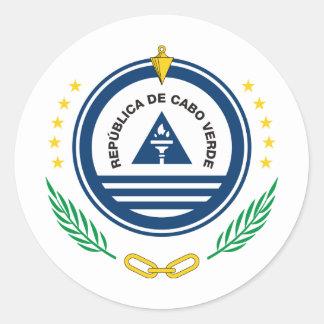 CVカーボベルデ共和国の紋章付き外衣 ラウンドシール