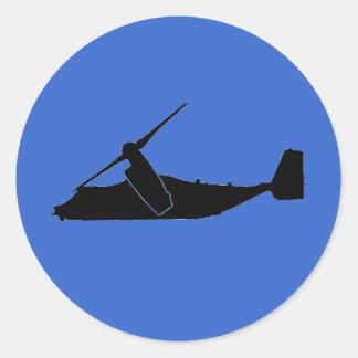 CV-22/V-22ステッカー ラウンドシール