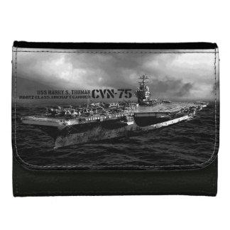CVN-75ハリー・S・トルーマンの中型の革財布