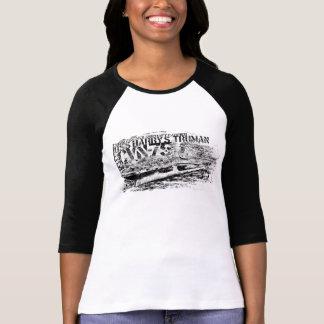 CVN-75ハリー・S・トルーマンの女性のBella 3/4本の袖R Tシャツ
