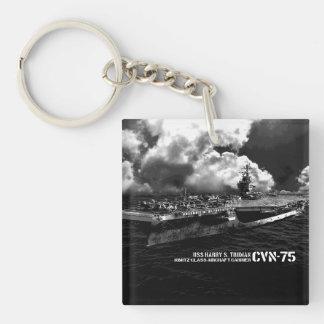 CVN-75ハリー・S・トルーマンスクエア(両面の) Keyc キーホルダー