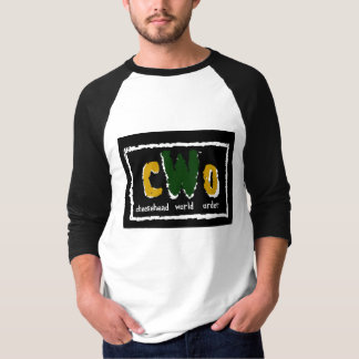 cWoのロゴ3/4の袖 Tシャツ