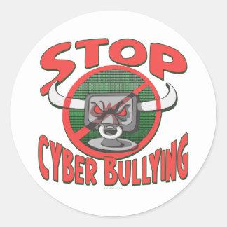 Cyberbullyの反ギアをサイバーいじめることを止めて下さい ラウンドシール