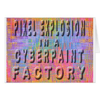 cyberpaintの工場のピクセル爆発 カード