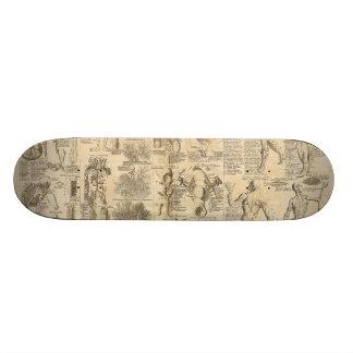 Cyclopaedia 1728年からの解剖図表 18.1cm オールドスクールスケートボードデッキ