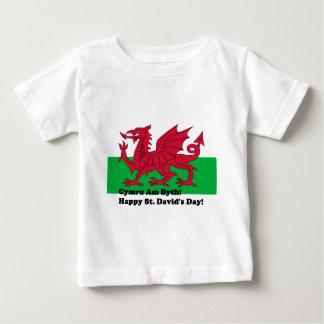 Cymru AM Byth -幸せなSt Davidの日 ベビーTシャツ