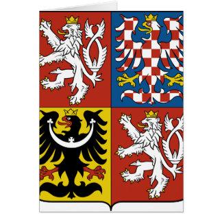 CZチェコスロバキア共和国の紋章付き外衣 カード